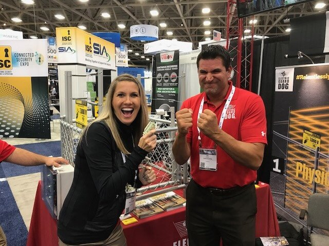 Shara Turley and Joe Pisano at ASIS Security Conference