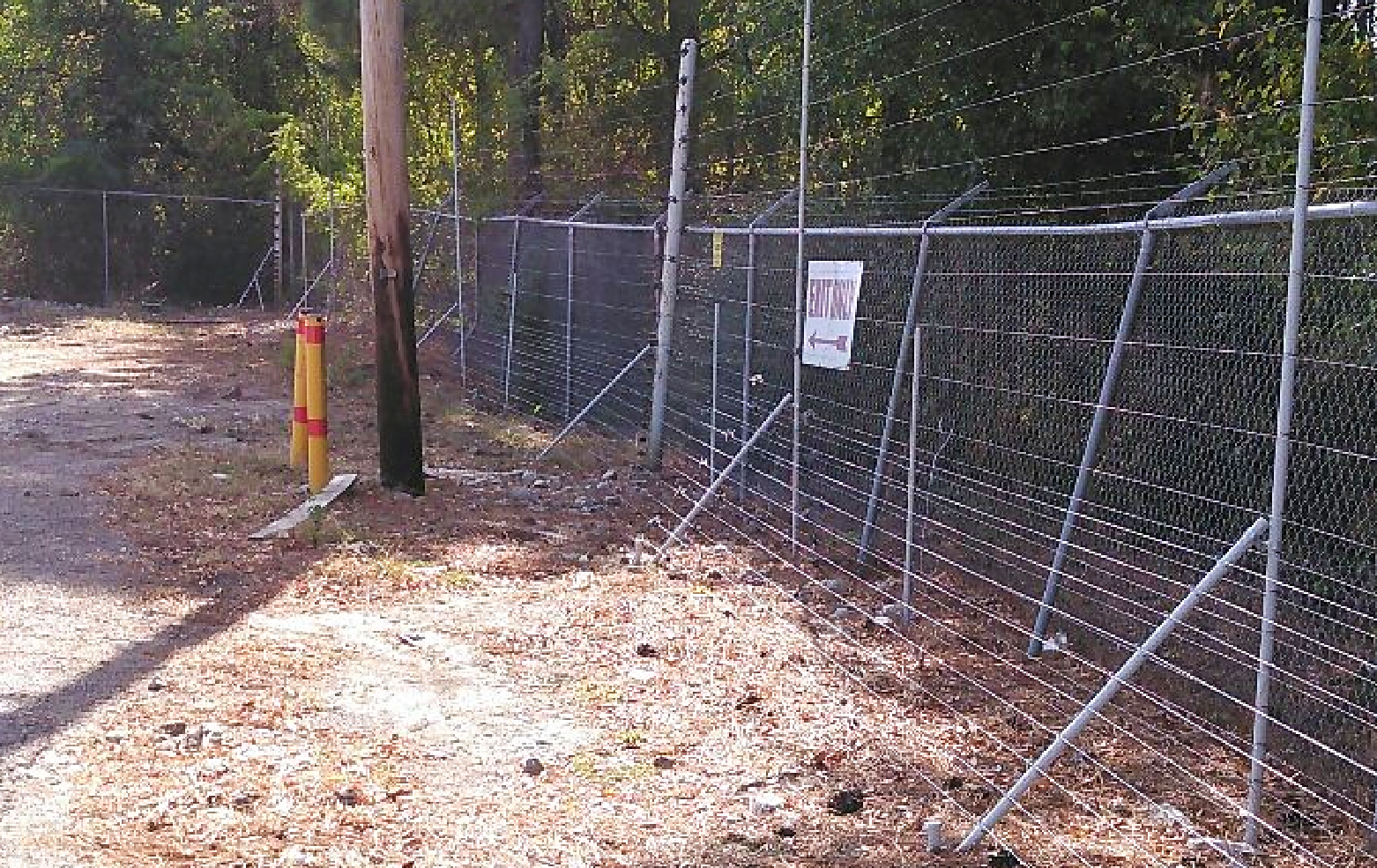 45-Degree Lay-Down Fence Option